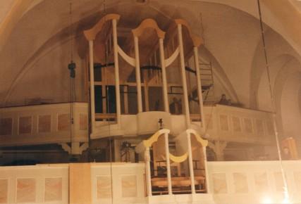 Großteile des Orgelgehäuses