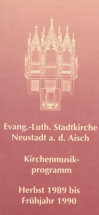 anstehendes Konzertprogramm aus Neustadt a. d. Aisch