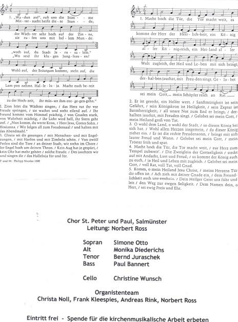 Organistenkonzert 2000 mit Chor