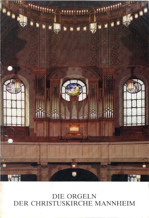Marcussen-Orgel der Christuskirche in Mannheim