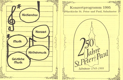 Festprogramm 1995