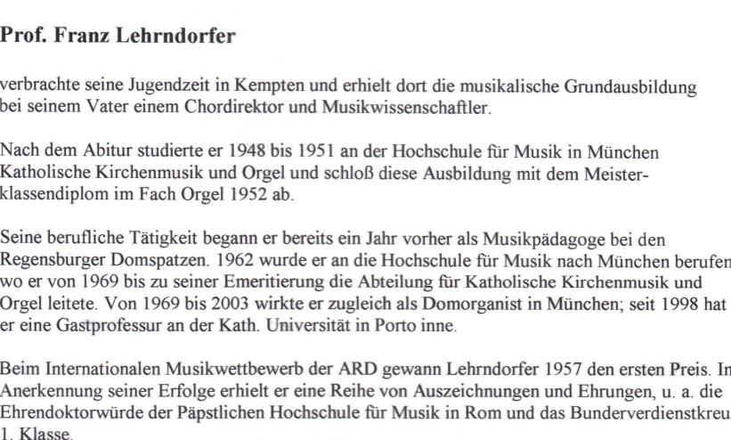 Vita Franz Lehrndorfer