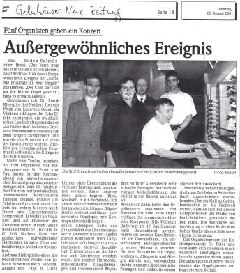 Organistenkonzert 2001