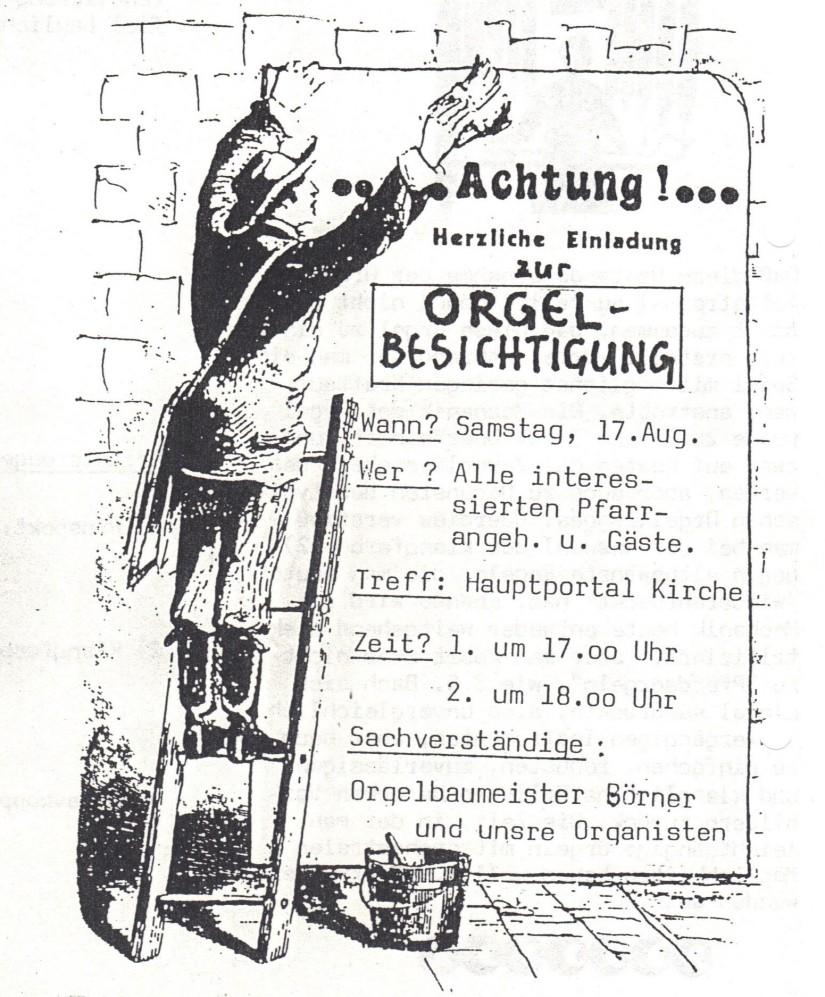 Orgelbesichtigung1985