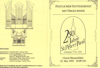 Gottesdienst mit Orgelweihe